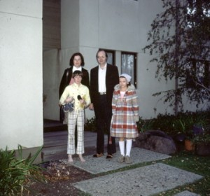 Jill Knuth, Don Knuth, John Knuth, and Jenny Knuth in Stanford, California c. 1979.