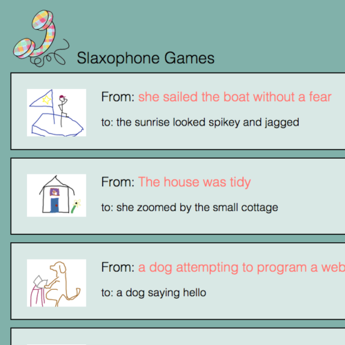 WEB APP: Slaxophone, the Telephone-Pictionary Game for ...